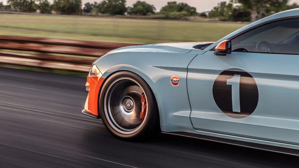 Brown Lee Performance's Gulf Heritage Mustang