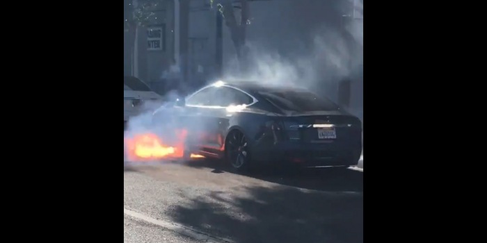 Tesla Model S catches fire 'out of the blue'